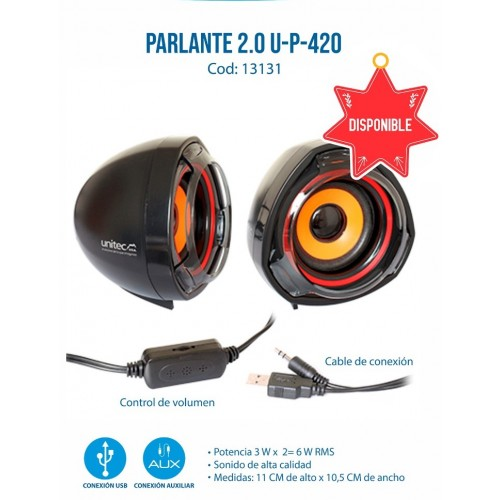 PARLANTE 2.0 U-P-420