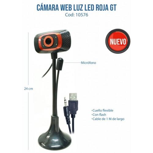 CAMARA WEB LUZ LED ROJA +...
